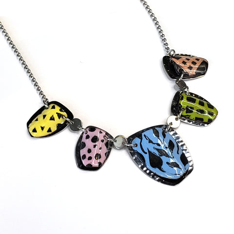 Kaleidoscope 5 Necklace-Pastel
