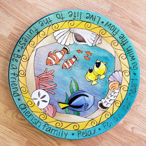 "Sticks Lazy Susan 16""-Fish Underwater"