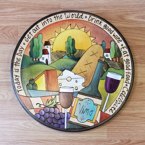 "Lazy Susan 16""-Drink Good Wine"