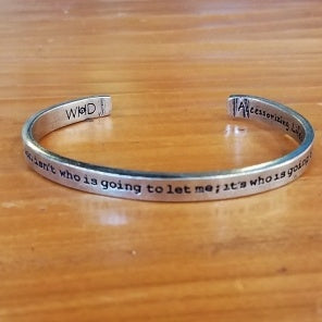 ayn rand who is going to stop me quote bracelet