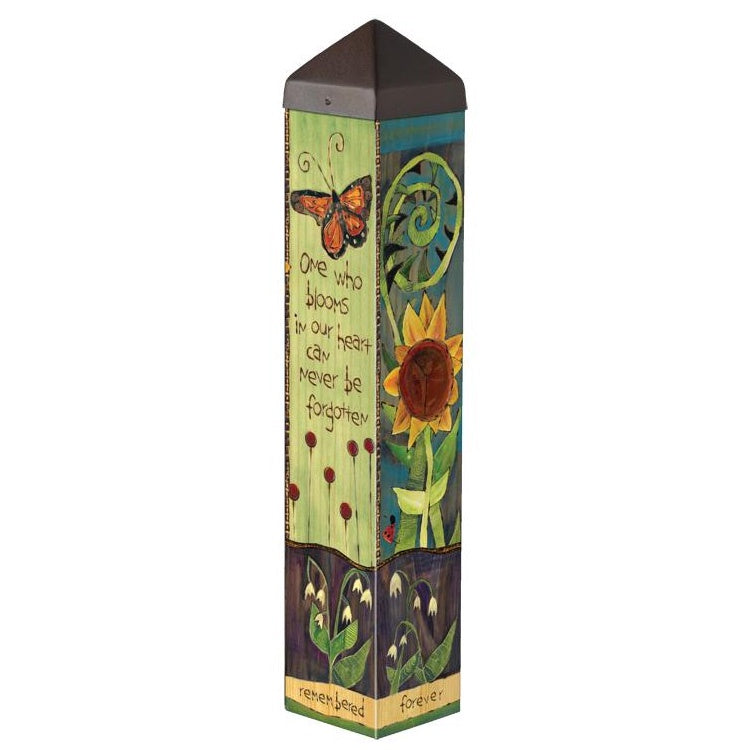Find Peace From Within Garden Art Pole