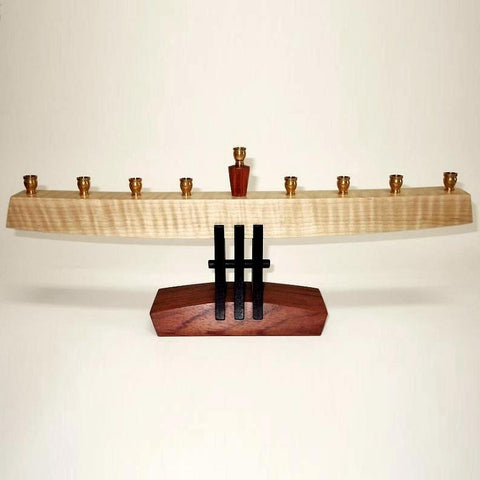 Curly Maple Menorah