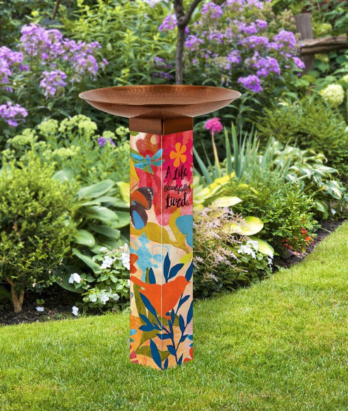 Art Pole Bird Bath-Sentimental Journey