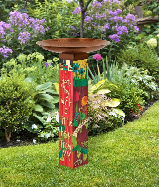 Art Pole Bird Bath-I Get By