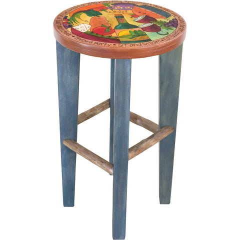 Round Stool-Food & Wine