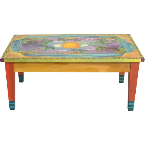 Contemporary Coffee Table-Tropical Landscape