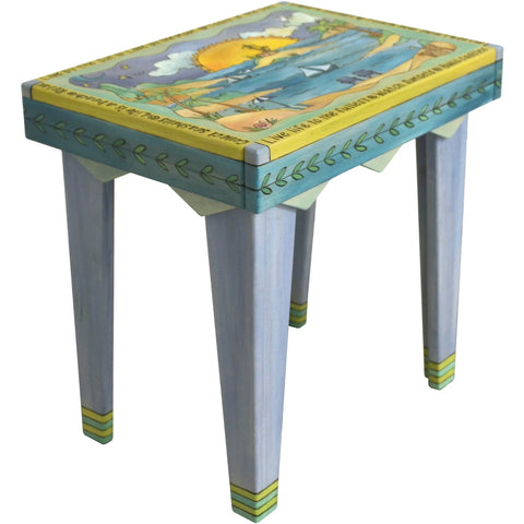 Rectangle End Table-Beach Scene