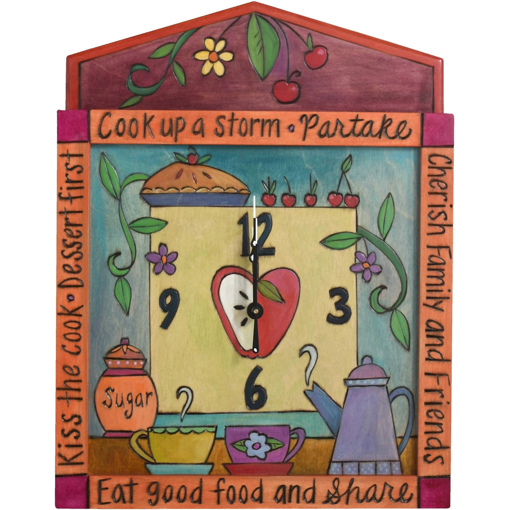 Square Clock-Cook Up a Storm