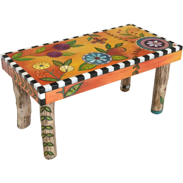 Wood Bench 3'-Bright Floral