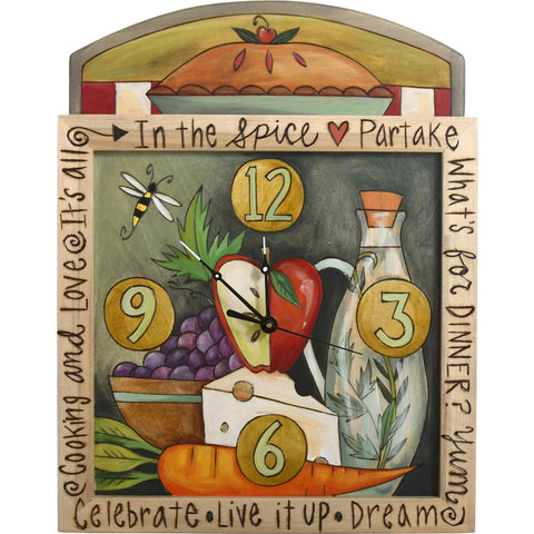 Square Clock by Sticks-Kitchen | Sticks | Random Acts of Art | Naples Florida