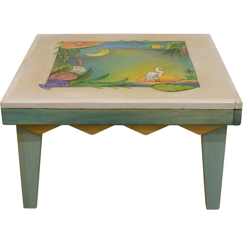 "Square Coffee Table-32"" Tropical"