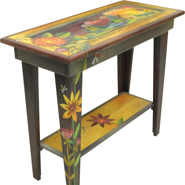 Sticks Sofa Table, 3 Foot-Floral Landscape