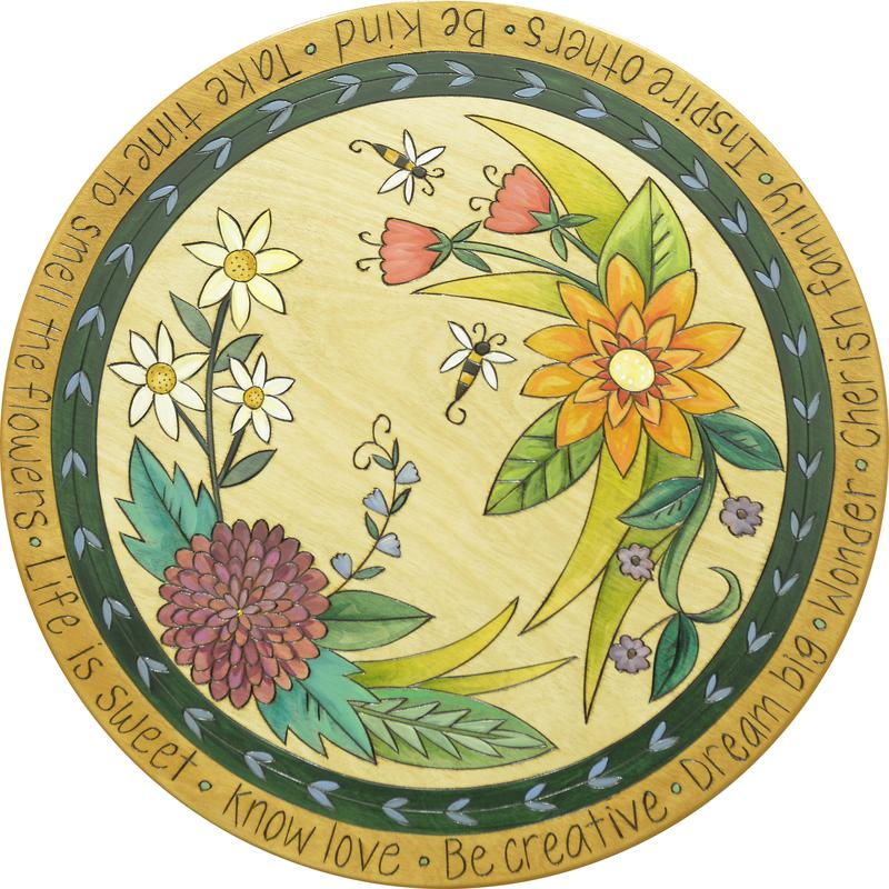 "Sticks Lazy Susan 20""-Spring Floral"
