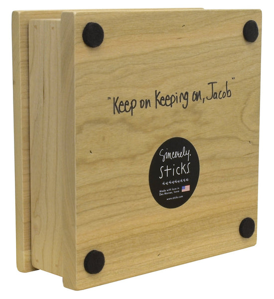 Cherry Wood Box-Keep on Keeping On