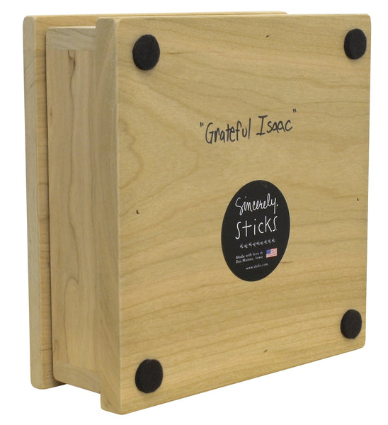 Cherry Wood Box-Grateful