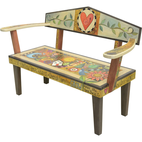 Loveseat Bench-Heart