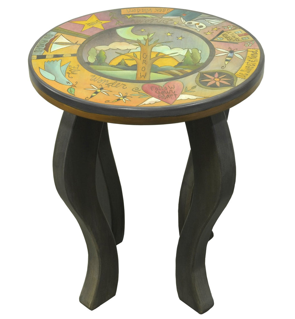 Round End Table-Grow