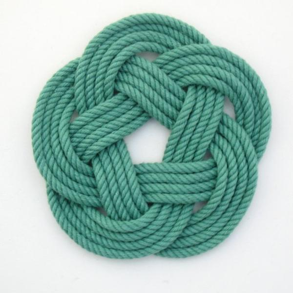 Sailors Knot Coasters-Green