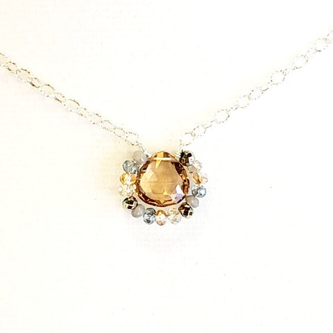 Classic Elegance Necklace-Tea Topaz