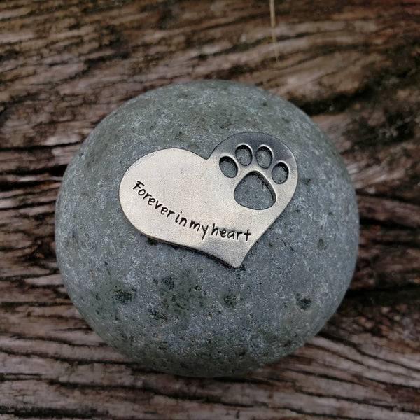 Forever in My Heart Memorial Rock-Pet