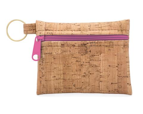 Cork Pouch Key Chain
