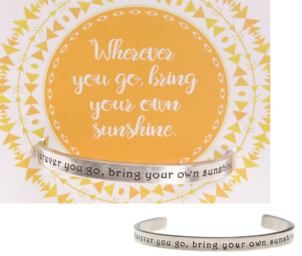 Cuff Bracelet-Wherever You Go