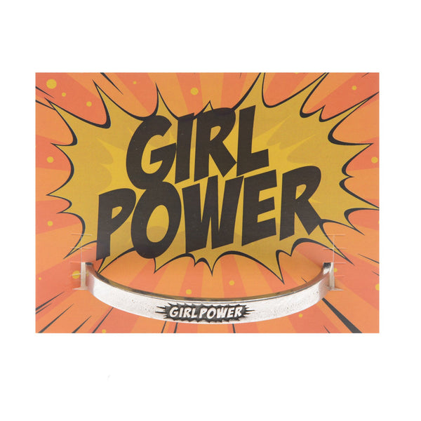 Pewter Cuff Bracelet-Girl Power