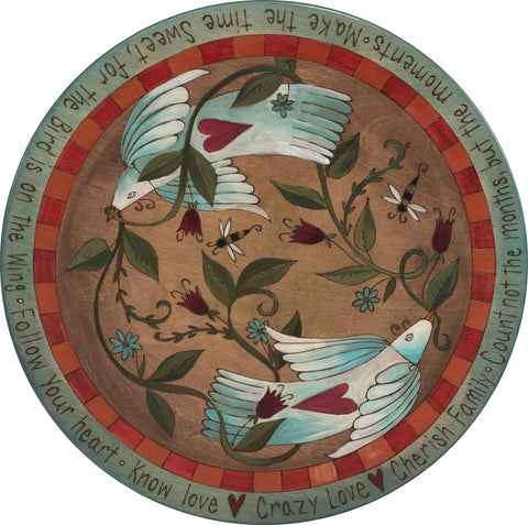 "Sticks Lazy Susan 20""-Love Birds"