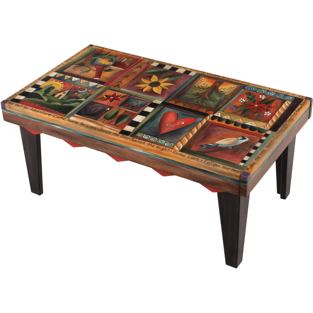 Rectangular Coffee Table-Patchwork