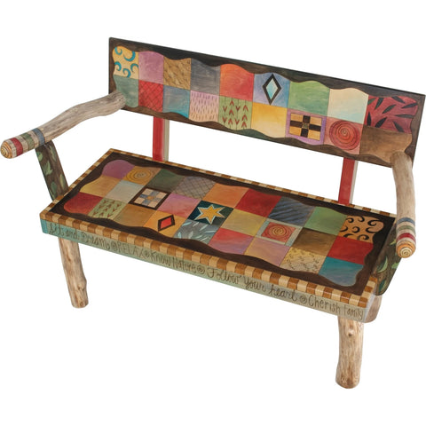 Loveseat Bench-Patchwork