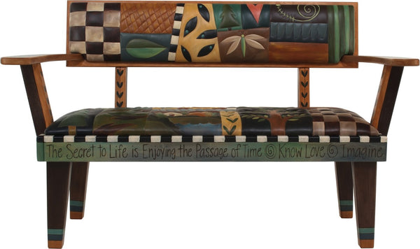 Loveseat Bench with Leather-Elegant Icons