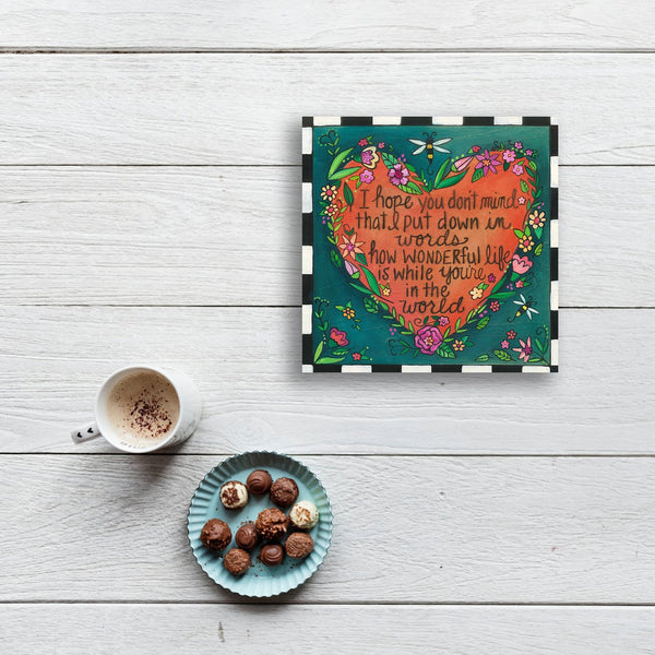 "Love Note Plaque-9"" x 9"""
