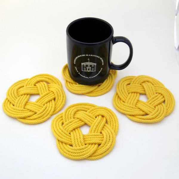 Sailors Knot Coasters-Yellow
