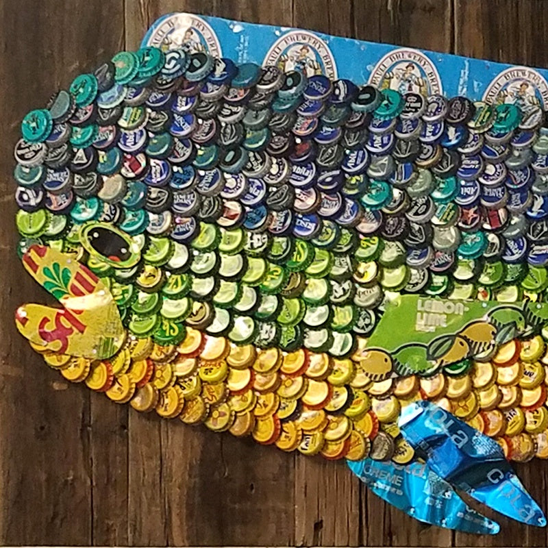Folk Art Mahi Mahi-Large