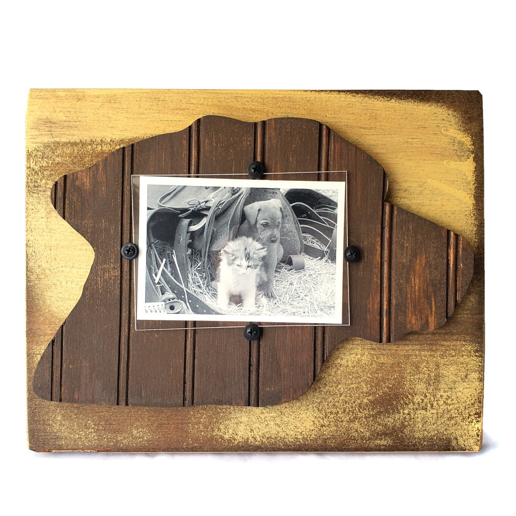 Bead Board Picture Frame-Dog