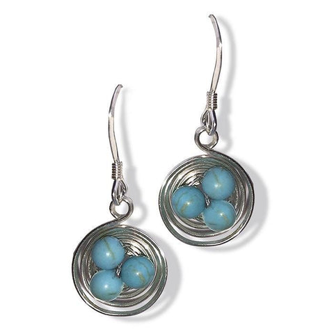 Nest Earrings-Turquoise