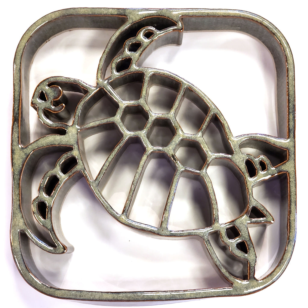 Bay Pottery Ceramic Turtle Trivet
