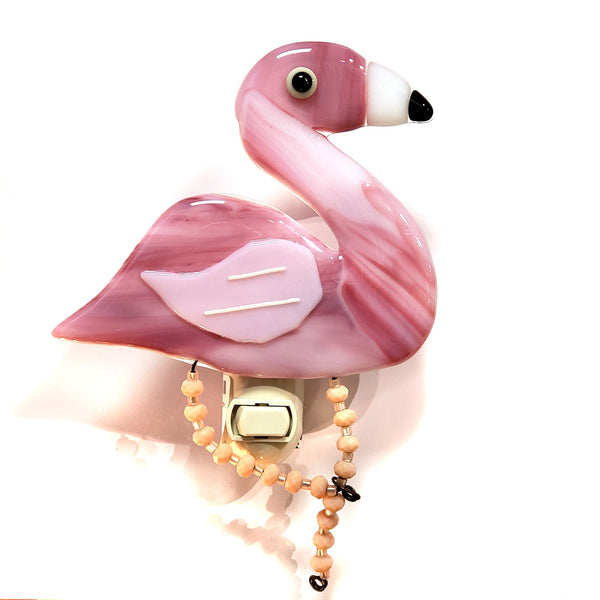 Glass Nightlight-Flamingo