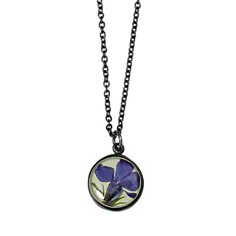 Lobelia Necklace-Sm Round