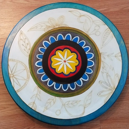 "Sticks Lazy Susan 20""-Contemporary Floral 