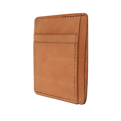 Leather Front Pocket Wallet - Natural