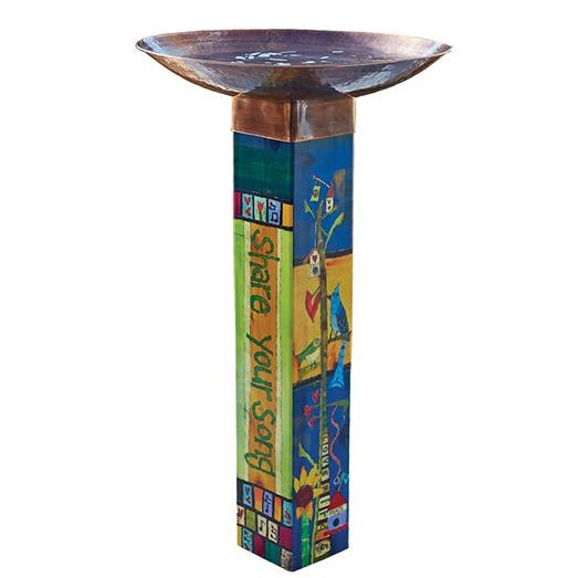 Gather Friends Art Pole Bird Bath