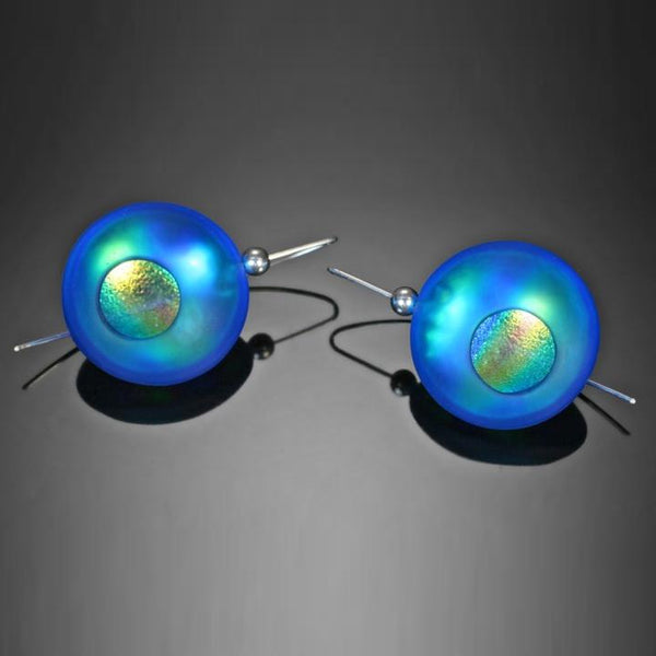 Atomic Orb Earrings | Dolores Barrett Glass Artistry | Random Acts of Art | Naples Florida