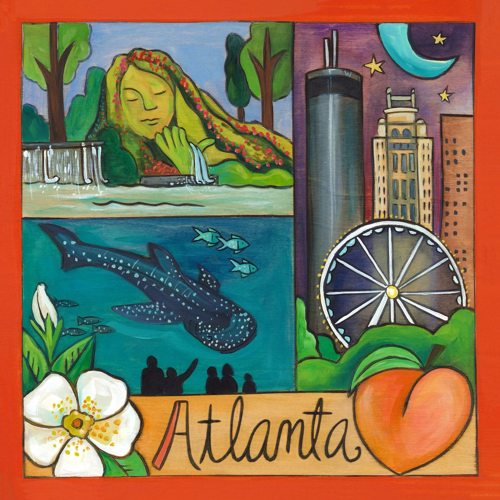 Atlanta Plaque-A Town