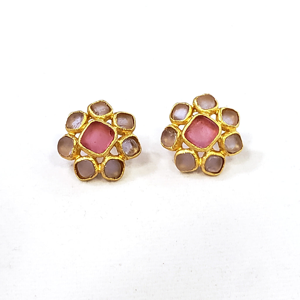 Squared Cluster Earrings