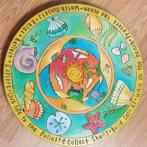 "Sticks Lazy Susan 20""-Walk on the Beach"