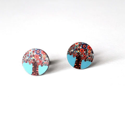 Bright Tree Stud Earrings