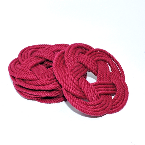 Sailor Knot Coasters-Red