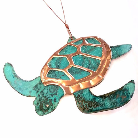 Copper Ornament-Sea Turtle