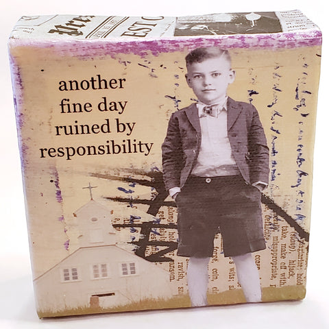 Mini Canvas-Responsibility